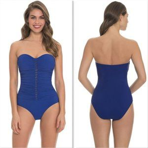 Profile by Gottex Blue Waterfall 1 Piece Swimsuit